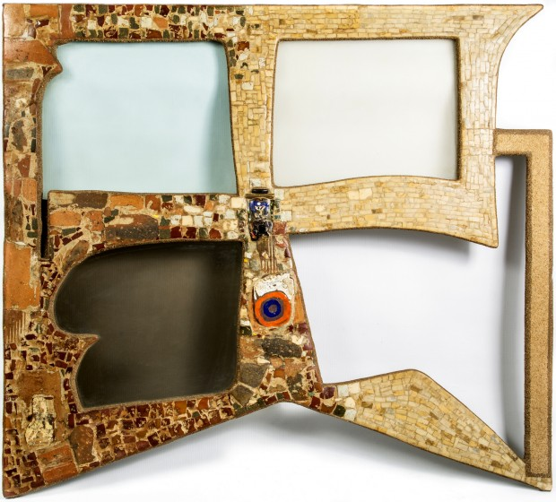 Portal, mosaic, mixed media, 92cmX100cm