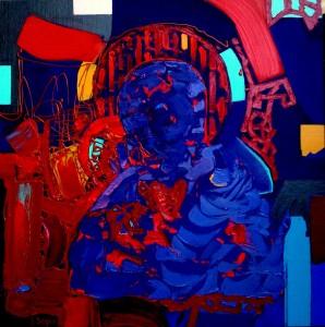 Aura, oil on canvas, 70cm x 70cm, sold
