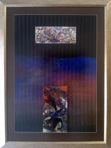 "Aura ""Sea"", mixed media on paper, 50cm x 70cm"