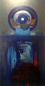 """Aura"", mixed media on canvas, 248cm x 128cm"