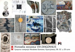Exhibition mosaic Via Diagonalis, Karyjevac, 2018